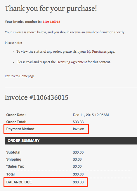 Invoiced Client PhotoShelter Support Center - Invoice email to client